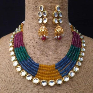 Multi Color Onex Kundan Line Set