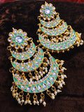 Multi Layered Chandbali With Kundan - Ishhaara