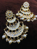Multi Layered Chandbali With Pearl Line - Ishhaara
