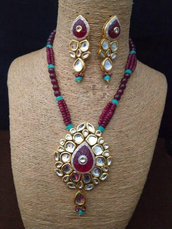 Multi Shape Pendant Necklace - Ishhaara