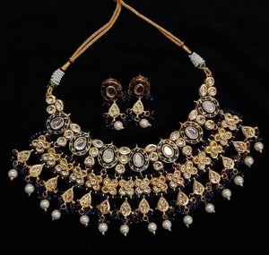 Oval Design Meena Big Necklace