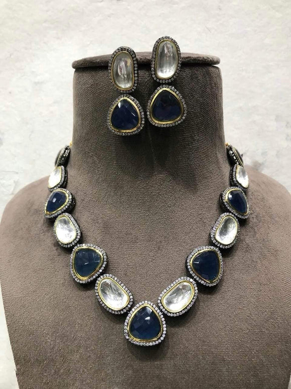 Oval Polki Necklace - Ishhaara