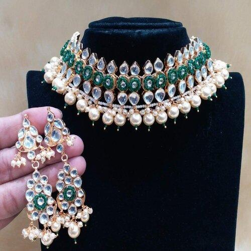 Patchi Kundan Moti Necklace - Ishhaara