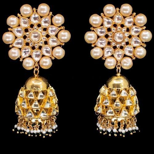Patchi Moti Outline Jumki Earring