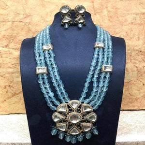 Polki Big Pendant Necklace - Ishhaara