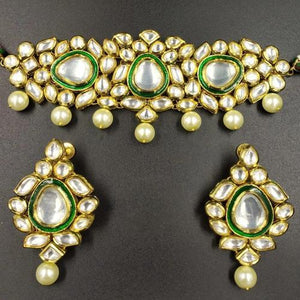 Polki Kundan AD Necklace - Ishhaara