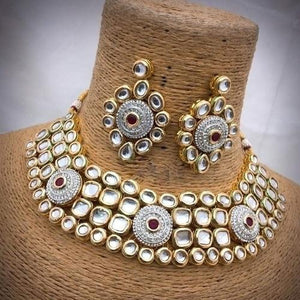 Round AD Kundan Necklace