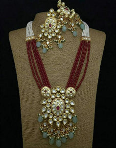 Round Kundan Onex Necklace