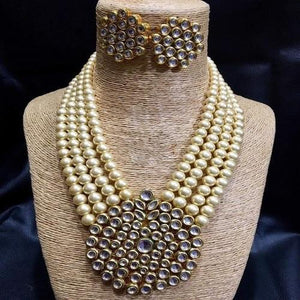 Round Kundan Pendant Necklace