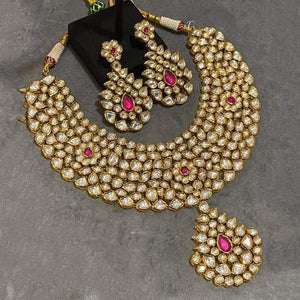 Ruby Broad Kundan Set