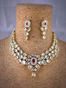 Ruby With Kundan Necklace