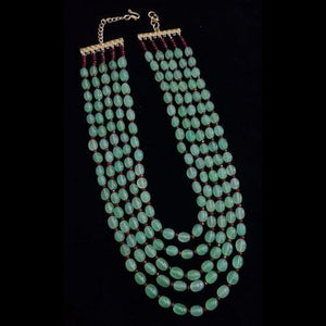 Semi Precious 5 Layered Necklace - Ishhaara
