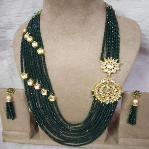 Side Patch Chandbali Necklace