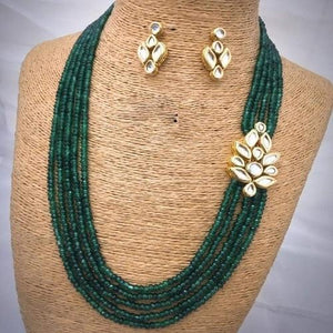 Side Small Kundan Patch Necklace