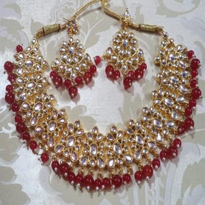 Simple Kundan Red Necklace