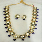 Simple Meena Necklace With Beads - Ishhaara