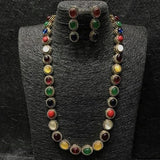 Single Line Ad Stone Necklace - Ishhaara