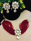 Small Bead Kundan Choker Set