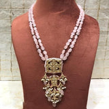 Square Kundan Pendant Necklace - Ishhaara