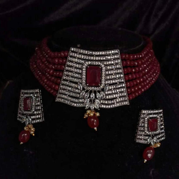 Square Moti Necklace - Ishhaara