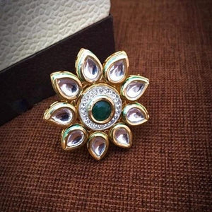 Sunflower Kundan Ring - Ishhaara