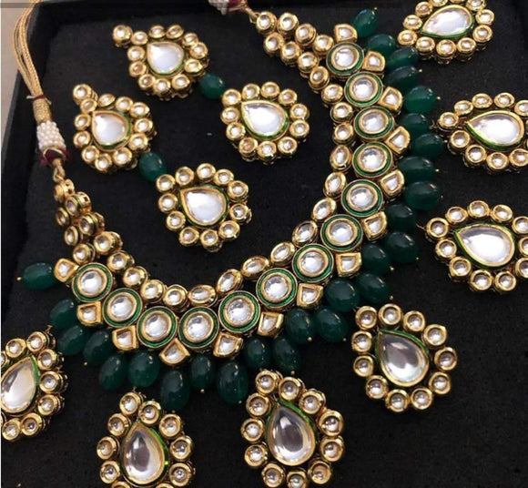 Tear Drop Kundan Motif necklace - Ishhaara