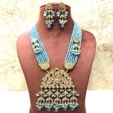 Triangular Kundan Onex Necklace - Ishhaara