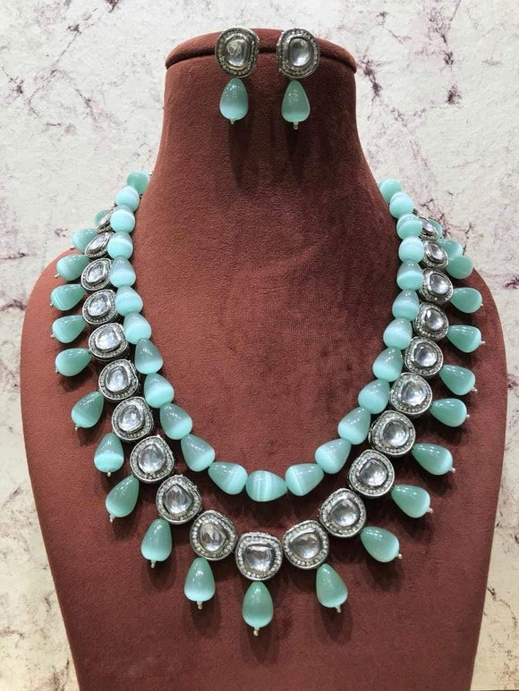 Turquoise Beaded Necklace - Ishhaara