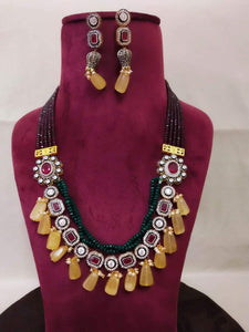 Twisted Color Necklace - Ishhaara