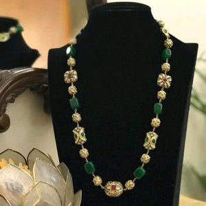 Victorian Colored Semi Precious Single Line Necklace