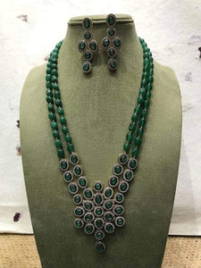 Victorian Two Layered Necklace - Ishhaara