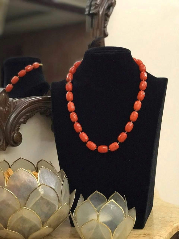 Simple red Stone Necklace - Ishhaara