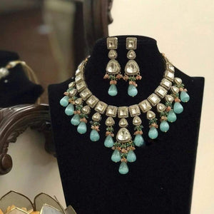 Victorian Setting Polki Necklace - Ishhaara