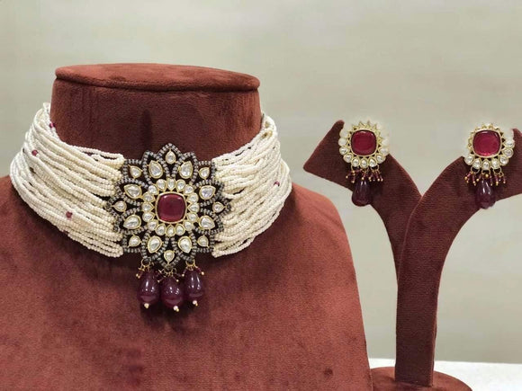 Baraque Center Flower Choker - Ishhaara