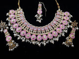 Kundan Meenakari Big Necklace