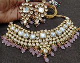 Big Kundan Necklace With Multi Beads