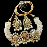 White Multi Pearl With Kundan - Ishhaara