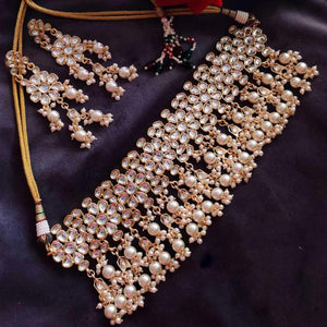 Flower Kundan Necklace - Ishhaara