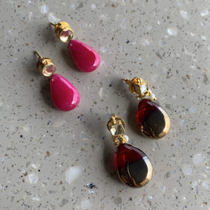 Patchi stud drop earrings - Ishhaara