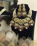Meena Kundan Multi Chand Necklace