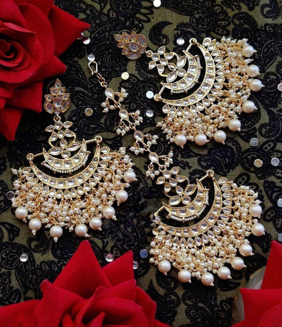 Layered Earring Teeka Combo