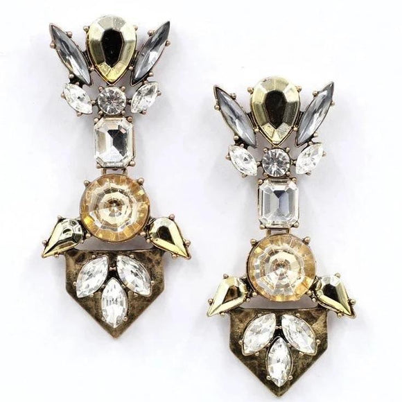 Crystal long earring - Ishhaara