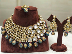 Big Kundan Semi Precious Bridal Necklace