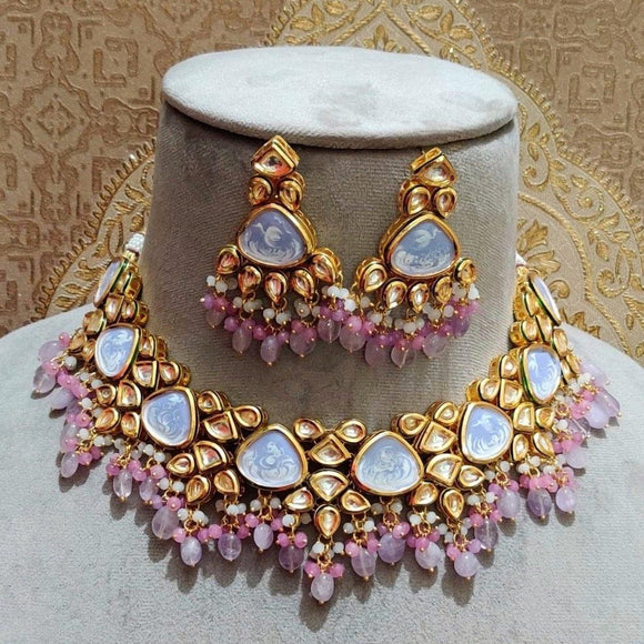 Triangular Kundan Pastel Set