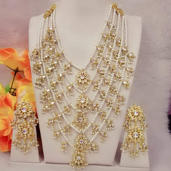 7 Layered Pearls Kundan Chain