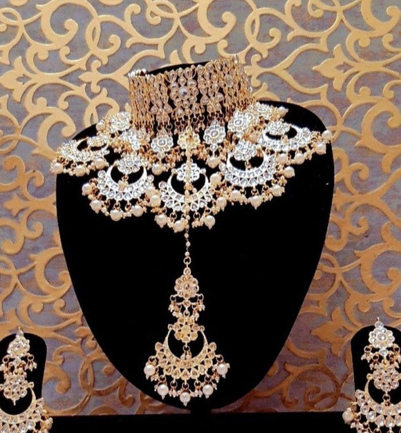 Multi Chandbali Bridal Necklace Set