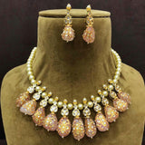 Pearl Split Multi Stone Necklace - Ishhaara