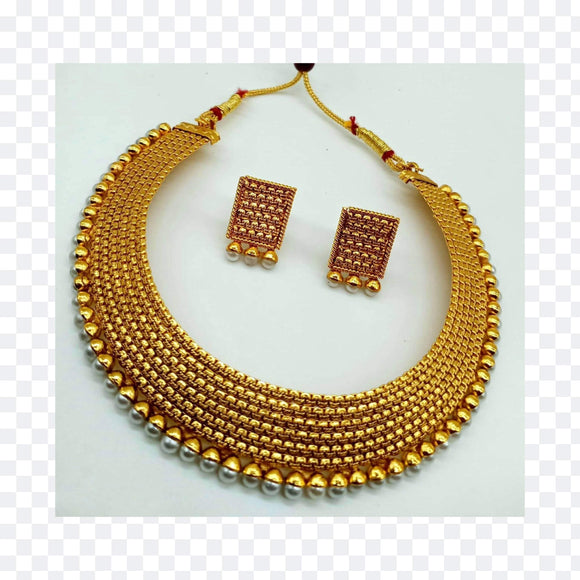 Moti gold necklace