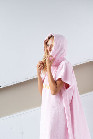 Baby Pink Hooded Towel