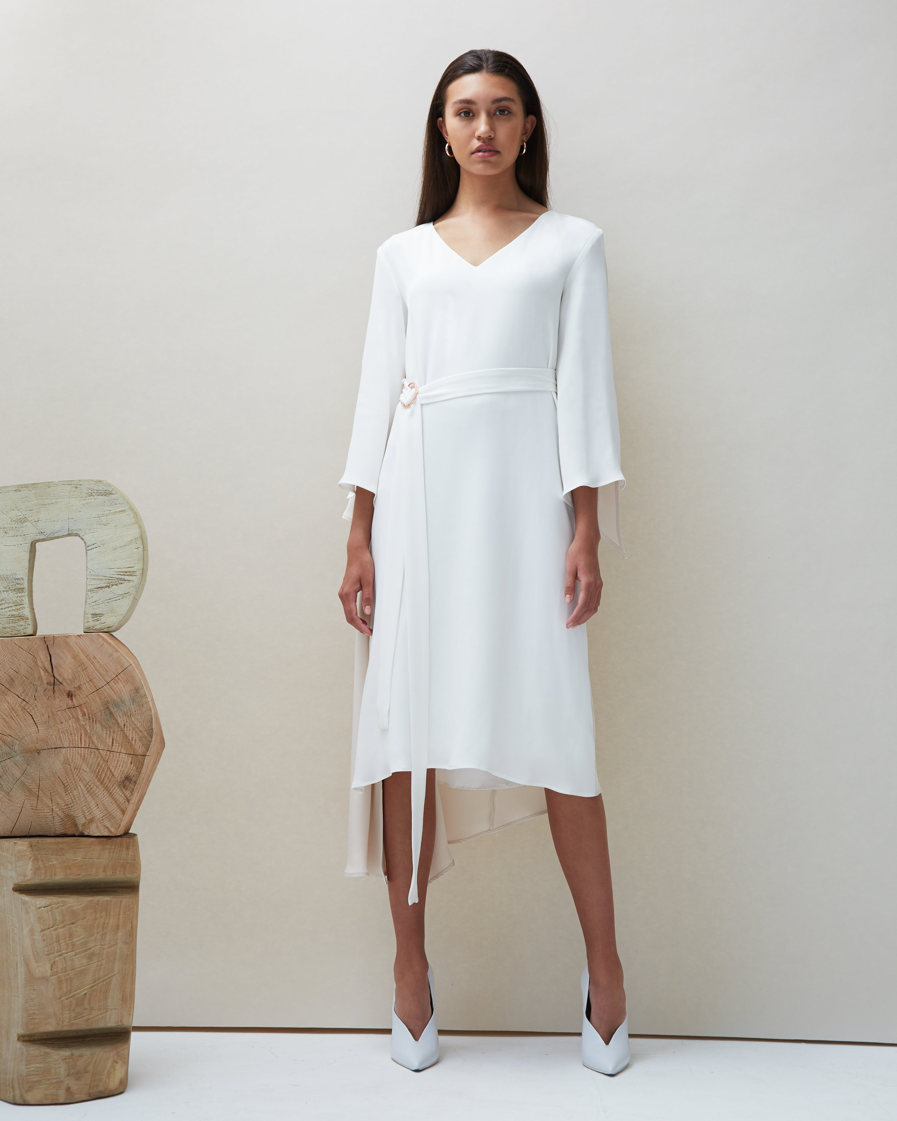 Dua Dress in Ivory - COYAN